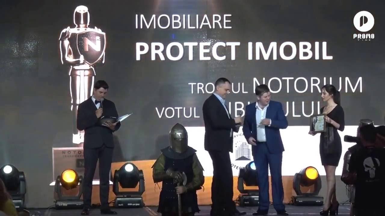 """""""Protect Imobil"""", compania premiată cu trofeul galei """"Notorium"""", pentru excelenţă în afaceri"""