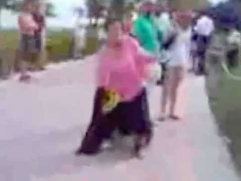 Crazy Woman peeing