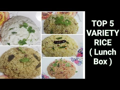 5 days 5 variety Rice  / Variety Rice Recipes / Lunch Box Recipes / Arusuvai kitchen #