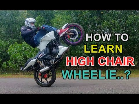 How To Learn High Chair Wheelie, The Best And Easy Bike Stunt Tutorial in Hindi