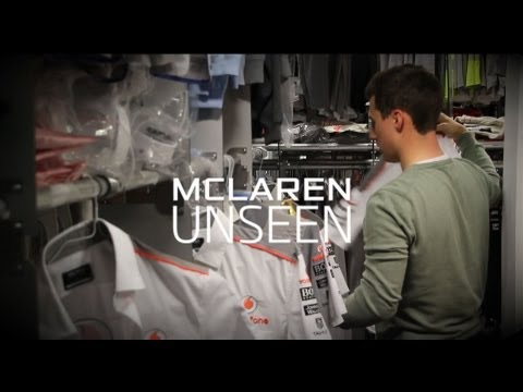 McLaren Unseen - Inside the clothing department