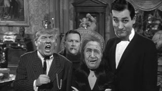 FUNNY Trump Hillary Cruz whatsisname and the Addams Family