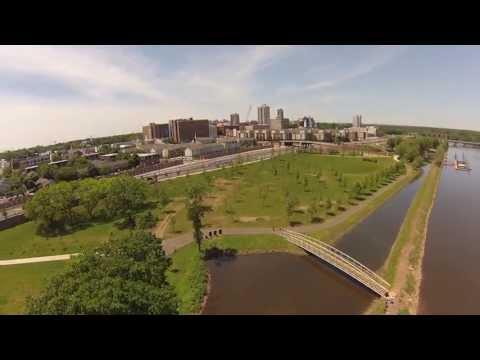 Aerial of Boyd Park in New Brunswick NJ