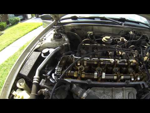 1996 Nissan Altima Valve Cover Gasket / Spark Plug Well Gasket Replacement