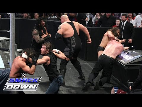 6 Man Tag Team Main Event: SmackDown, January 15, 2015