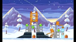 Angry Birds Seasons - Wreck the Halls - 1-17- 2012 - Walkthrough 3 Stars