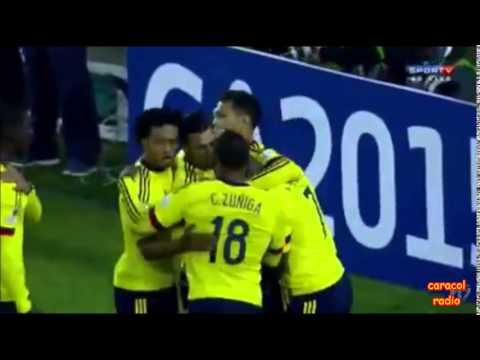 Brasil 0 - Colombia 1 (Radio Caracol Colombia) Copa America 2015 Grupo C