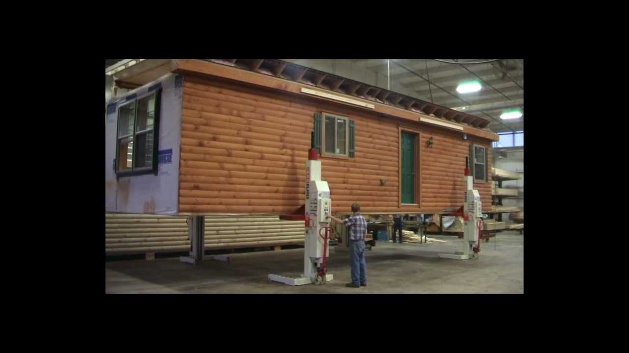 modular log home construction from start to finish youtube