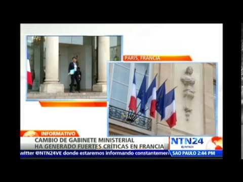 Polémica en Francia por cambio de gabinete ministerial de Francois Hollande