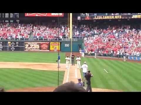 Jimmy Rollins sets Phillies All Time Hits Record!