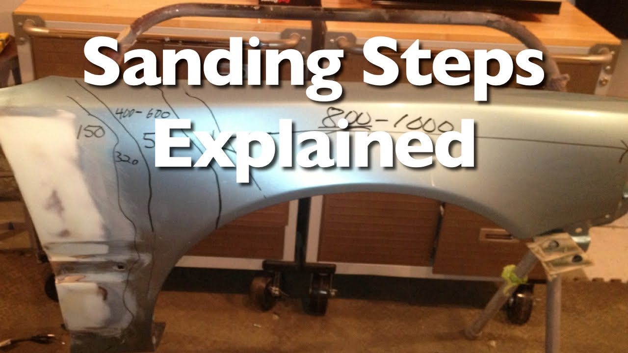 Sanding steps to prep a car for paint and clear youtube for Car painting school