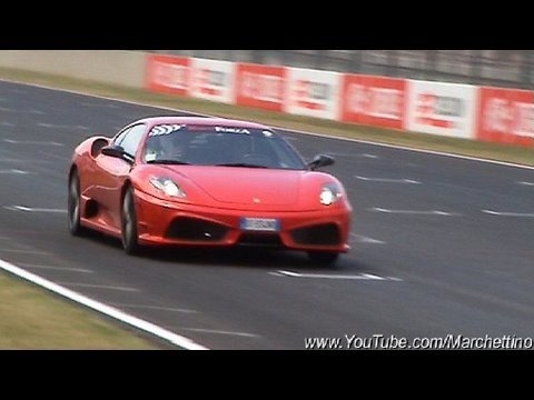 Ferrari 430 Scuderia in Action - Start Rev Accelerations Fly Bys