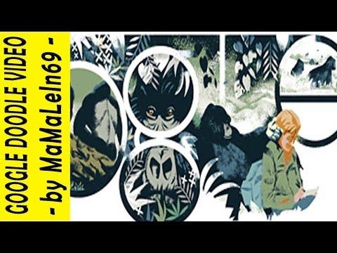Dian Fossey's Gorillas in the Mist Google Doodle