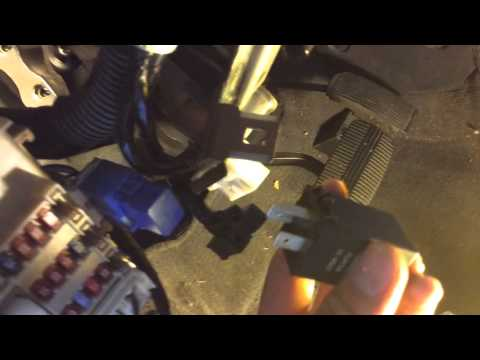 replacing flasher module   nissan maxima youtube