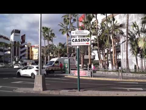 Playa del Inglés streets. Gran Canaria.