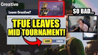 Why Did Tfue QUIT Twitch Rivals MID TOURNAMENT? Was It A DISASTER?