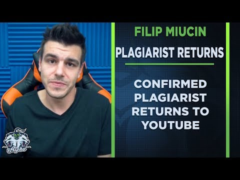Confirmed Plagiarist Filip Miucin returns to YouTube