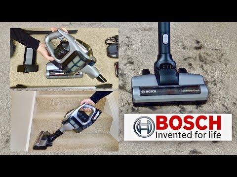 Bosch BCS111GB Unlimited Cordless Vacuum Cleaner Demonstration & Review