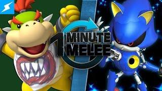 One Minute Melee - Bowser Jr vs Metal Sonic (Nintendo vs SEGA)