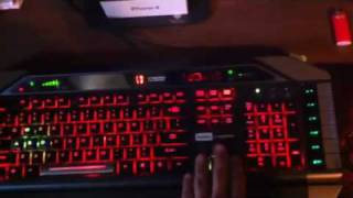 Saitek cyborg gaming keyboard review_ with lights and 12 macroable keys