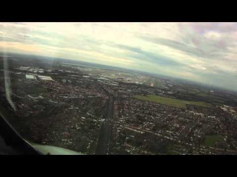 PilotCAM Crosswind Landing London Heathrow 27R
