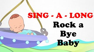 Rock a Bye Baby |  Sing a long | Animated English Songs | Cartoon Nursery Rhymes For Children