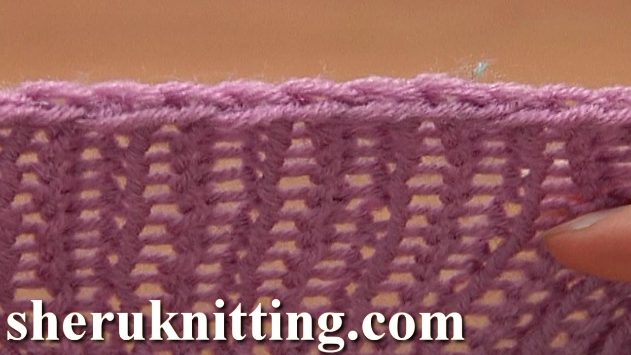 How To Bind Off Knitting In Pattern : Decrease Bind off In Pattern Knit Ribbing K1 P1 Tutorial 7 Method 3 of 12 - Y...