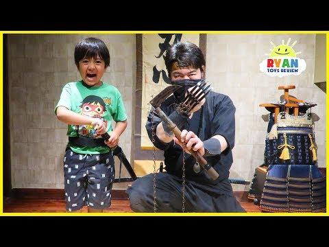 Ninja School for Ryan!  How to become a Ninja!!!