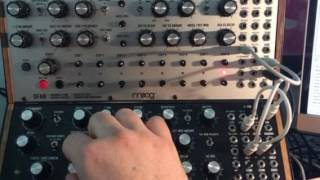 Moog DFAM Drummer From Another Mother + Mother 32
