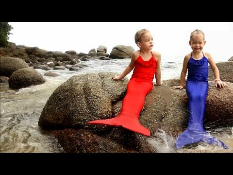 #1 ВОЛШЕБНОЕ ПРЕВРАЩЕНИЕ в РУСАЛКУ Little Mermaid MAGIC Transformation ХВОСТ РУСАЛКИ Видео для детей