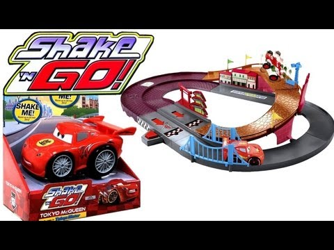 Dragon Tokyo McQueen Shake n Go Cars 2 w/ Speedway Racing Challenge Entire Complete collection