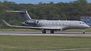 [FullHD] M-PLUS Gulfstream G650 takeoff at Geneva/GVA/LSGG