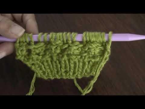 Boina floja o caida en dos agujas (Slouchy knit beret) Parte 1
