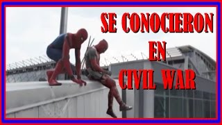 Deadpool y Spider-Man se conocieron en Captain America: Civil War