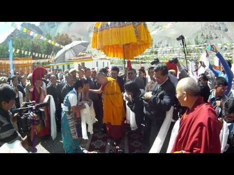 Dalai Lama Lamdon Jamyang School Inauguration Ladakh India Aug 11 2012