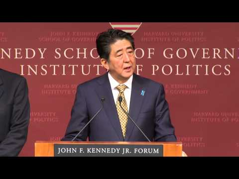 A public address by Shinzo Abe, Prime Minister of Japan | Institute of Politics