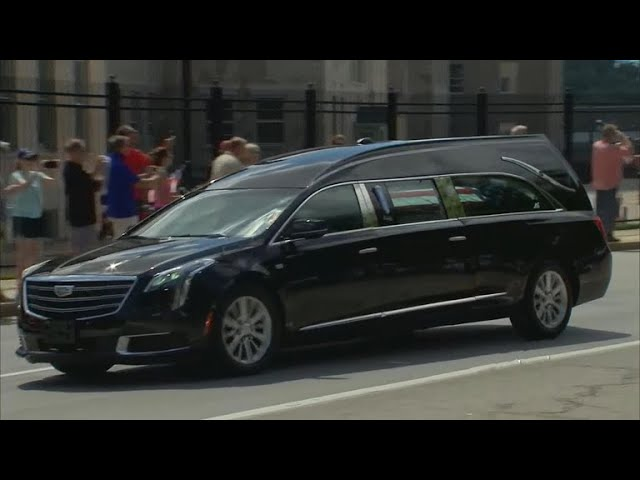 John McCain's casket arrives to U.S. Naval Academy for burial