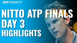 Thiem Beats Djokovic In EPIC To Reach Semis; Federer Wins | Nitto ATP Finals 2019 Day 3 Highlights