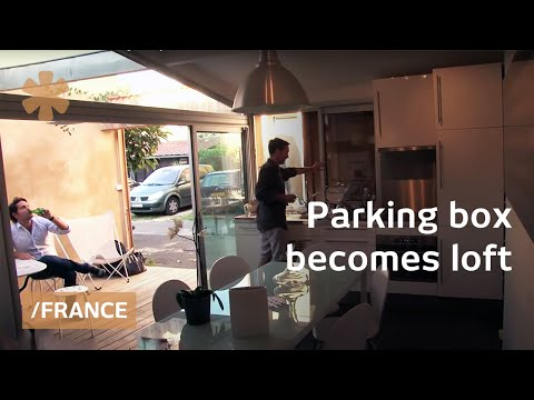 Maison garage: old parking as tiny home in Bordeaux, France