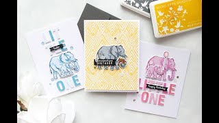 Color Layering Elephant 3 Ways | Color Layering With Yana