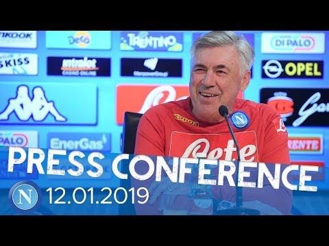 Coppa Italia - Napoli - Sassuolo, la conferenza stampa pre partita