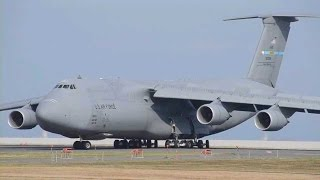 USAF C-5M Super Galaxy with GPM at KKJ / 北九州空港にGPM衛星積載のC5ギャラクシー