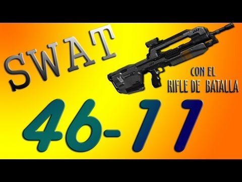 Halo 4 SWAT 46-11 con el rifle de batalla