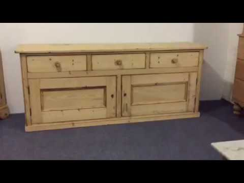 Beautiful Victorian Farmhouse Kitchen Sideboard for sale - Pinefinders Old Pine Furniture Warehouse