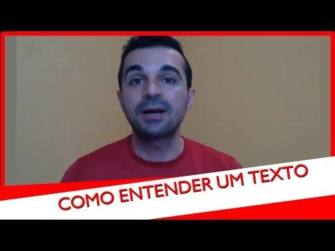 Como ler um texto e entender tudo, com Rafael Freitas.