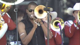 """Trombone Shorty and Longhorn Band play """"Texas Fight"""" [Oct. 4, 2014]"""