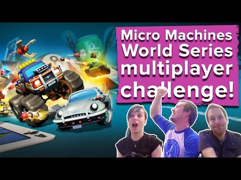 Micro Machines World Series Gameplay - Outside Xbox vs. Outside Xtra vs. Eurogamer!