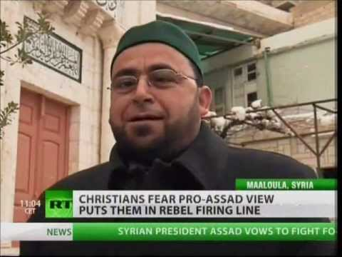 Syrian Christians, Catholics, Orthodox and Muslims, with Bashar al-Assad and Syrian Army