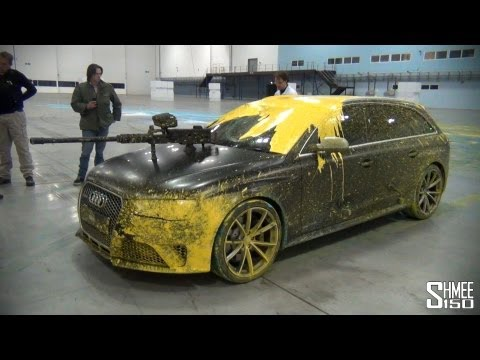 Audi RS4 Avant - The Duel! Paintball Guns, Powerslides, Mess!