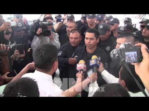 Policías en Tepic reubican paro para no afectar a terceros